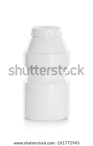 bottle of drink packaging packaging isolated on a white background - stock photo