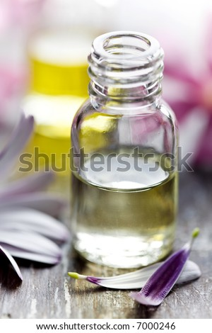 bottle of flower essence - stock photo