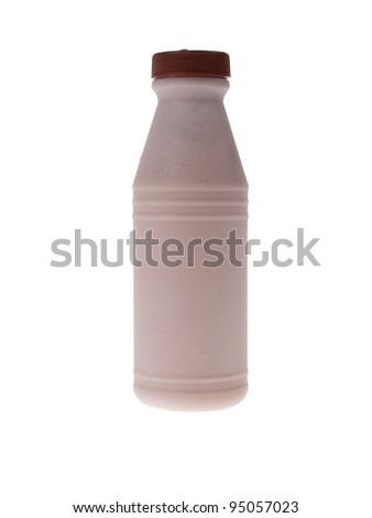 Bottle of fresh milk chocolate - stock photo