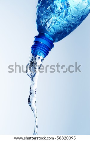 Bottle of Fresh Water - stock photo