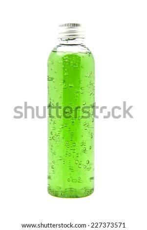 bottle of gel for body hygiene - stock photo