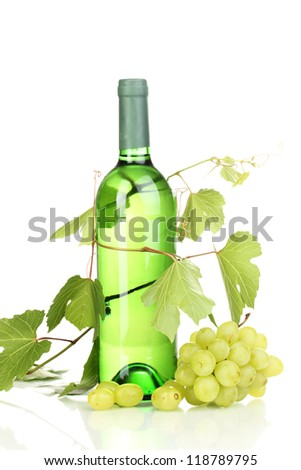 Bottle of great wine isolated on white