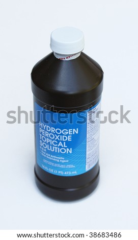 Bottle of hydrogen peroxide - stock photo