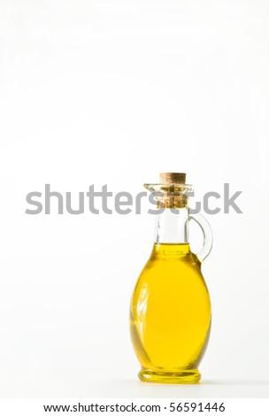 Bottle of oil - stock photo