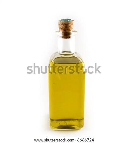 Bottle of olive oil - stock photo