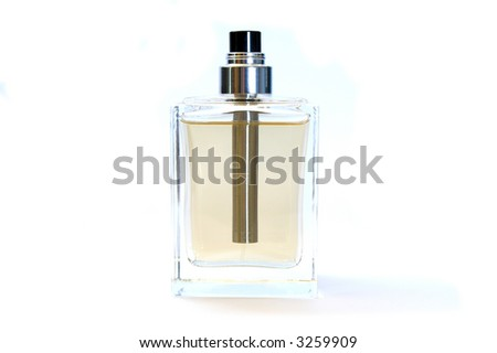 Bottle of perfume isolated on white