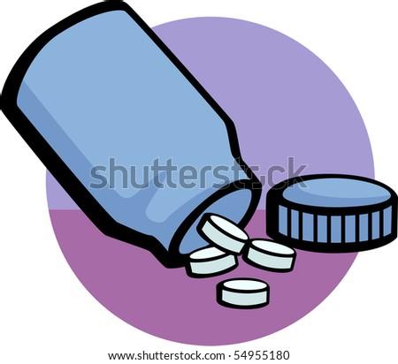 bottle of pills - stock photo