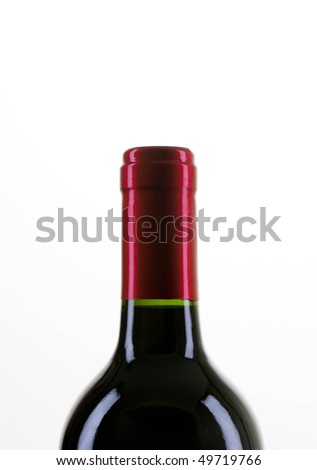bottle of red wine close - stock photo