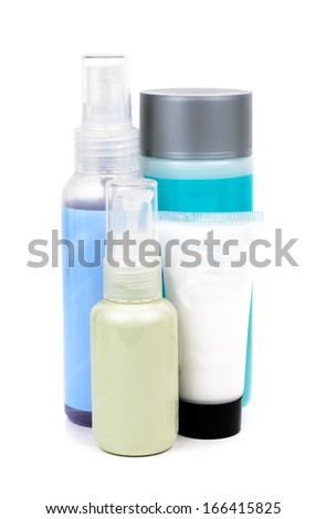 Bottle of shampoo. Microstock on white background - stock photo