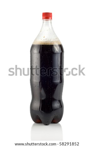 Bottle of soda isolated on a white background ( Path ) - stock photo