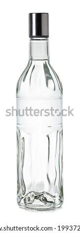 Bottle of vodka - stock photo