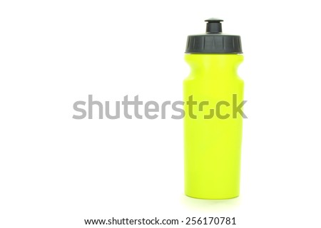 Bottle of water isolated - stock photo
