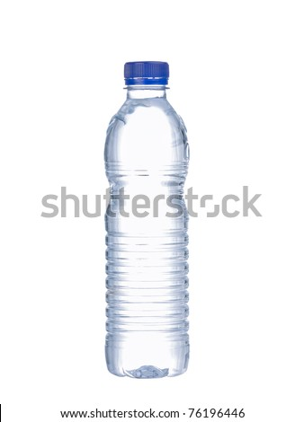 Bottle of water isolated on the white - stock photo
