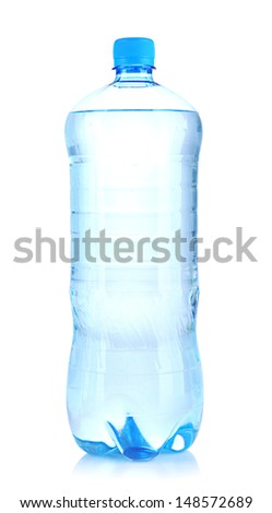Bottle of water, isolated on white