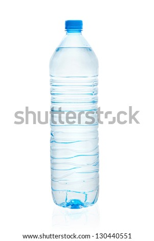 bottle of water. Isolated on white background