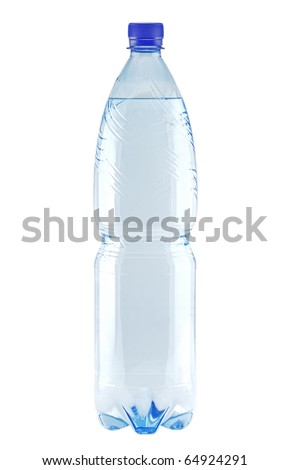 Bottle of water isolated on white (with clipping patch)