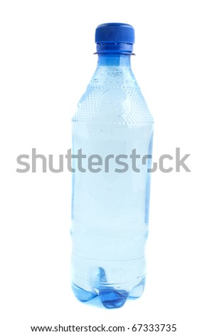 bottle of water on a white background