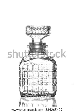 Bottle of whiskey isolated on a white