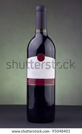 Bottle of white - stock photo