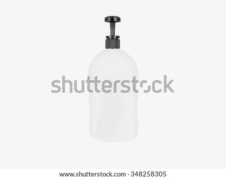 Bottle of white isolation on a white background. - stock photo