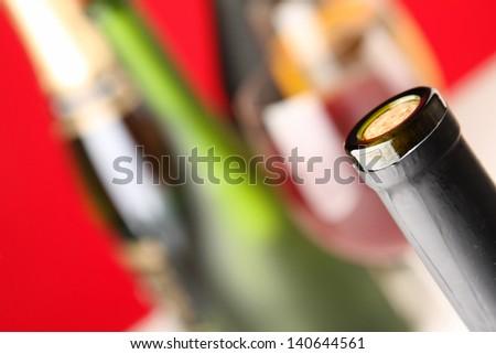 Bottle of wine - stock photo