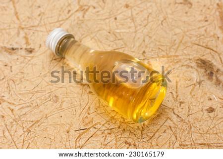 bottle oil - stock photo