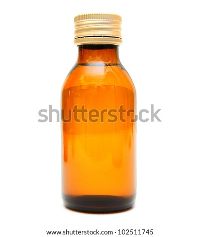 Bottle. On a white background. - stock photo