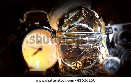 bottle the time - stock photo