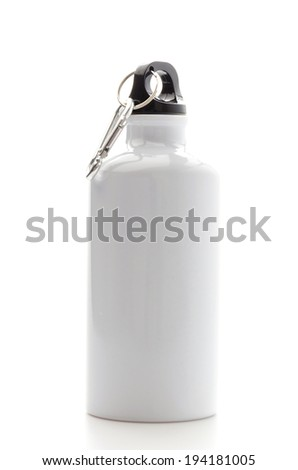 Bottle water isolated on white - stock photo