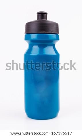Bottle water on isolated white background - stock photo