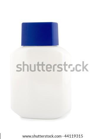 bottle white isolated on white background - stock photo
