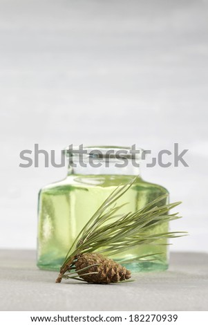 bottle with a herbal balm  - stock photo