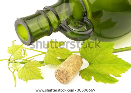 bottle with grapevine