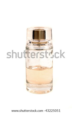 Bottle with perfumery with pleasant flower aroma - stock photo