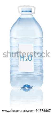 Bottle with water - stock photo