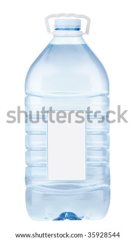 Bottle with water 2 - stock photo
