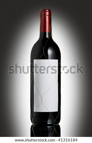 Bottle with wine - stock photo