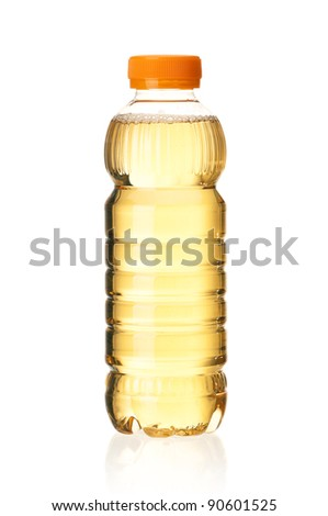 Bottled green tea for healthy life over a white background - stock photo