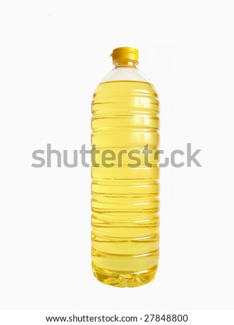 Bottled oil - stock photo