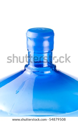 Bottled potable water for cooler. Isolated - stock photo