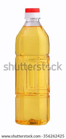 Bottled vegetable oil  - stock photo