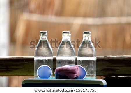 Bottled water - stock photo