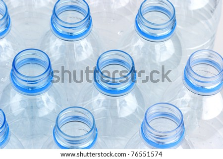 Bottled water bottles