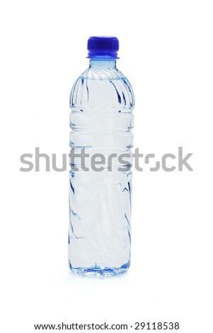 Bottled water isolated on white background