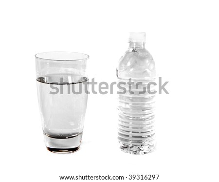 bottled water vs glass of water