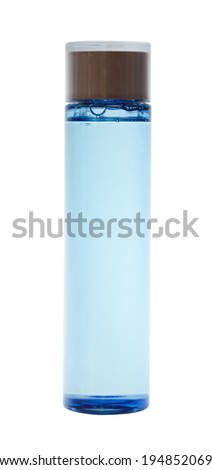 bottles of body care and beauty products - stock photo