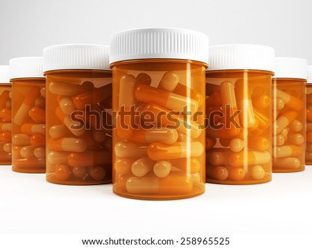 Bottles of pills - stock photo