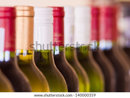 Bottles of Wine - stock photo