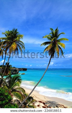 Bottom Bay, Barbados. Most famous beach at Barbados Island - stock photo