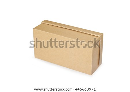 Bottom cardboard box isolated on a white background